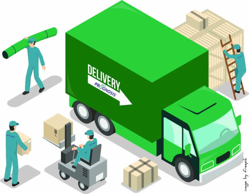Image of movers and a deilivery truck