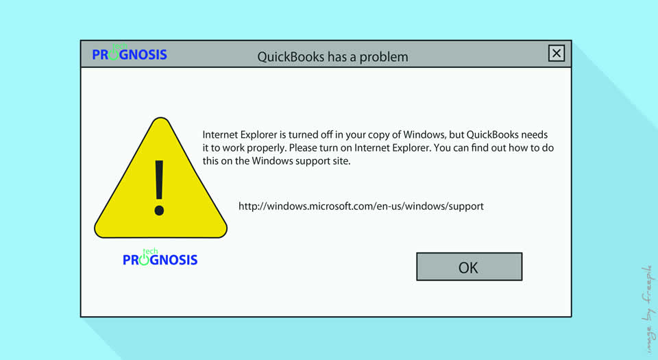 "QuickBooks ""Internet Explorer is turned off"" Error Message"